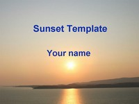 Sunset template thumbnail