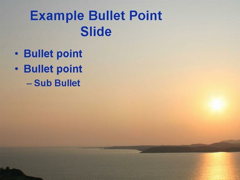 Sunset template inside page