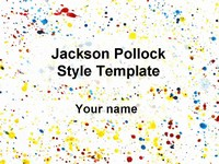 Abstract art powerpoint template jackson pollock powerpoint template toneelgroepblik