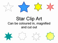 Star Clip Art in easy PowerPoint format thumbnail
