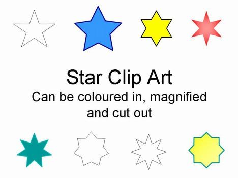 Star Clip Art in easy PowerPoint format