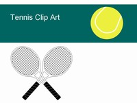 Free Tennis Clip Clip Art ball shoes racket thumbnail