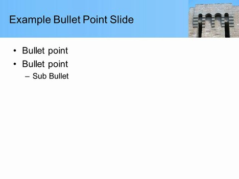 Arch Building Template inside page