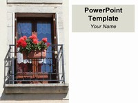 Balcony PowerPoint Template thumbnail
