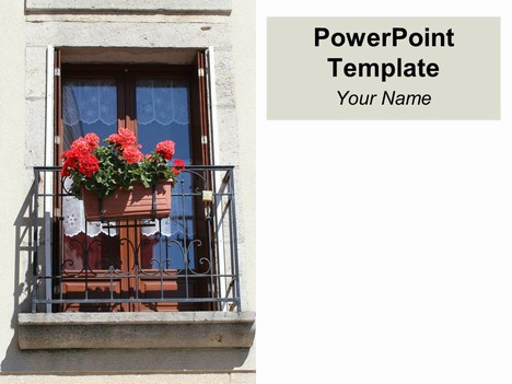 Balcony PowerPoint Template