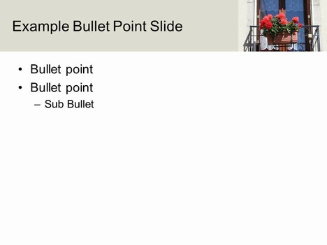 Balcony PowerPoint Template inside page