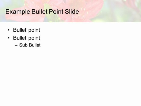 Red Flower PowerPoint Template inside page