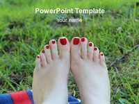 Barefoot PowerPoint Template