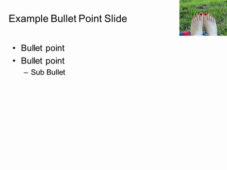 Barefoot PowerPoint Template inside page