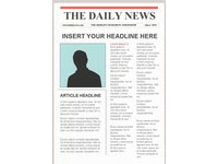 Editable Newspaper Template - Portrait