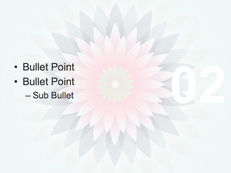 Vector flowers template inside page