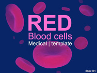 Red Blood Cells Medical PowerPoint Template thumbnail