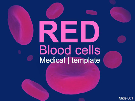 Red blood cells PowerPoint Template - Presentation Magazine