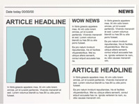 editable powerpoint newspapers, Modern powerpoint