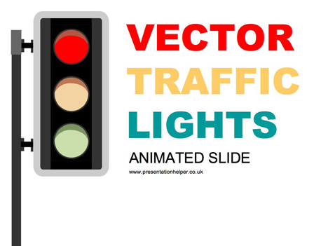 Animated Traffic Light PowerPoint slide