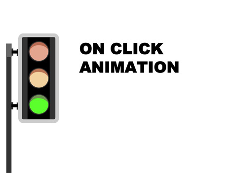 Animated Traffic Light PowerPoint slide inside page