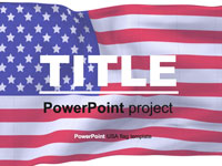 American Flag PowerPoint Template thumbnail