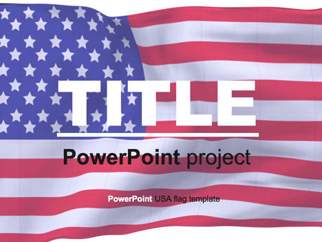 American flag PowerPoint template