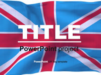 British flag PowerPoint template thumbnail