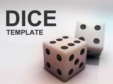 Gaming Dice Powerpoint Template