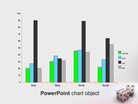 Gaming Dice PowerPoint Template inside page