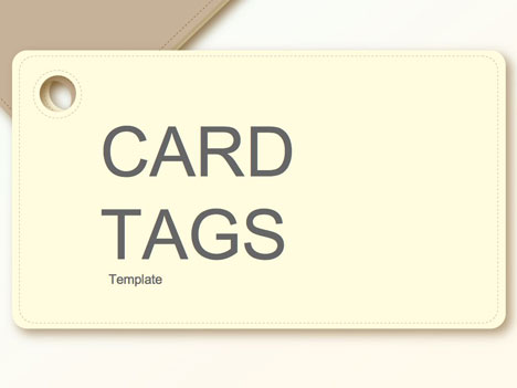 Card tags template