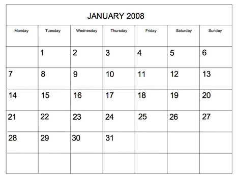 editable 2008 blank calendar. Black Bedroom Furniture Sets. Home Design Ideas