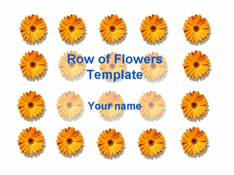 Row of flowers template