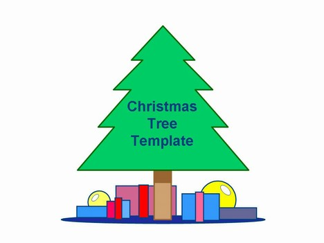 simple christmas tree template, Powerpoint templates