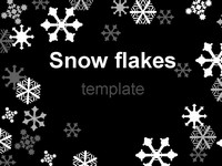 Snowflake Template on Black thumbnail