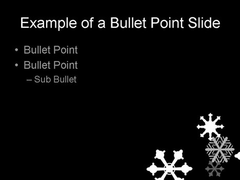 Snowflake Template on Black inside page