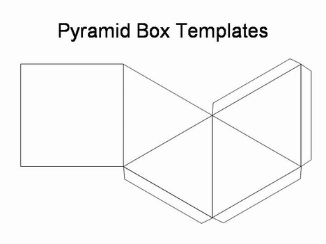 pyramid box template. Black Bedroom Furniture Sets. Home Design Ideas