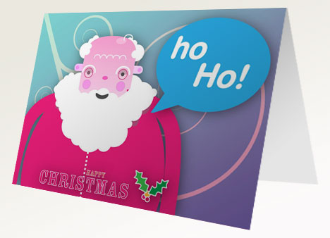 Father Christmas Free Printable Card inside page