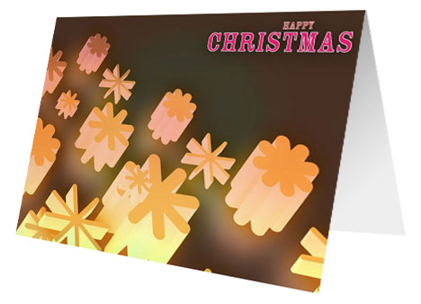 Christmas Snow Lights Card inside page