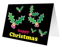 Christmas Holly Free Printable Card
