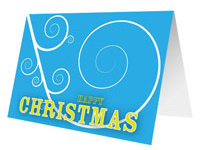 Swirling Wind Printable Christmas Card