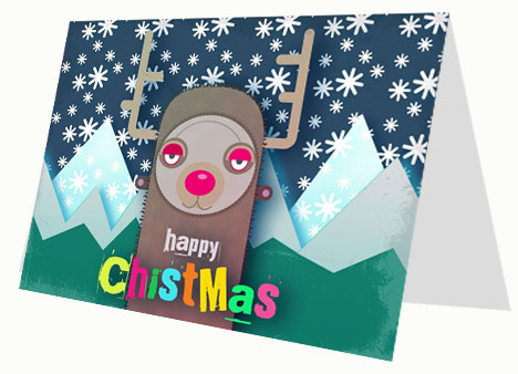 Rudolf the Red-Nosed Reindeer Card inside page