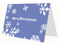 Christmas Snow Printable Card