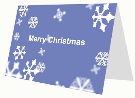 Christmas Snow Printable Card inside page