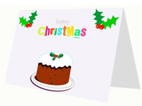 Cartoon Christmas Cake Card thumbnail