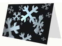 Snowflakes 3D Card