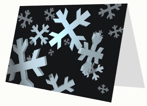 Snowflakes 3D Card inside page