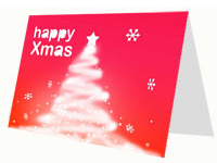 White Christmas Tree Card thumbnail