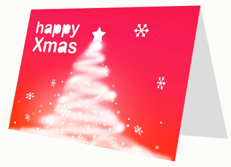 White Christmas Tree Card inside page