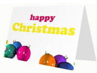 Christmas Baubles Card thumbnail