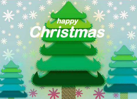 Christmas Tree Free Printable Card – Free Christmas Tree Templates