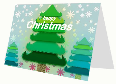 Christmas Tree Free Printable Card inside page