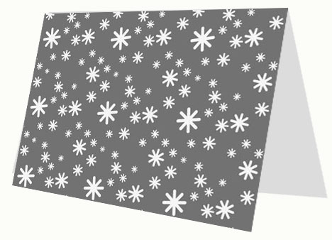 White Snow Greeting Card inside page