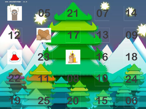 Online Advent Calendar Template