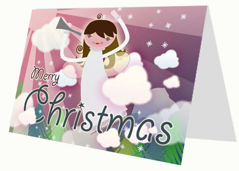 Christmas Angel Card inside page